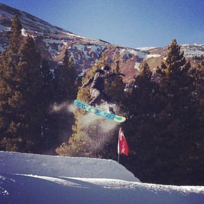 Brian snowboarding tricks