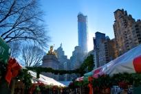 Christmas Market in Columbus Circle