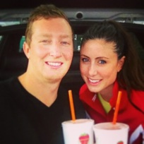 "We spent a lot of time at the gym this weekend...and had ""recovery"" drinks at Jamba"