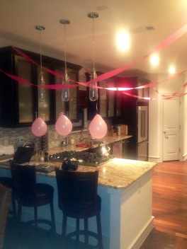 My sweet sister decked out my house for my birthday!