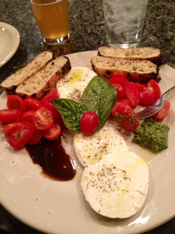 ...with the best Caprese Salad ever.