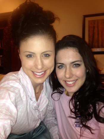 Superbowl-watching in PJ's with my sister. Perfect.